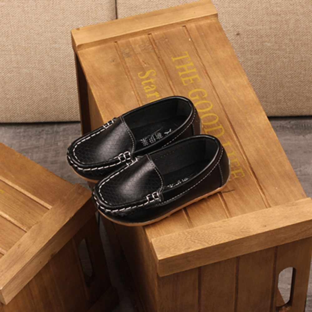 חדש לופרס ילדים נעלי סניקרס לילדים בייבי בנים מקרית עור אפונה נעלי פעוט בנות רך תחתון נעלי נוח