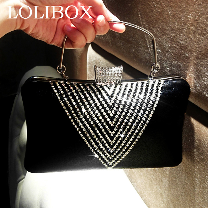 LOLIBOX new women bags diamond handbag ladies evening clutch bags for bride wedding party clutches crossbody bags for women retro 2017 floral beaded handbag women shoulder bags day clutch bride rhinestone evening bags for wedding party clutches purses
