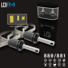 2 шт. 80 Вт 9600LM с ETI светодио дный чип фар автомобилей Conversion Kit противотуманные лампы H1 H3 H4 H7 H11 880 9005 3000 К 4300 К 8000 К светодио дный лампа