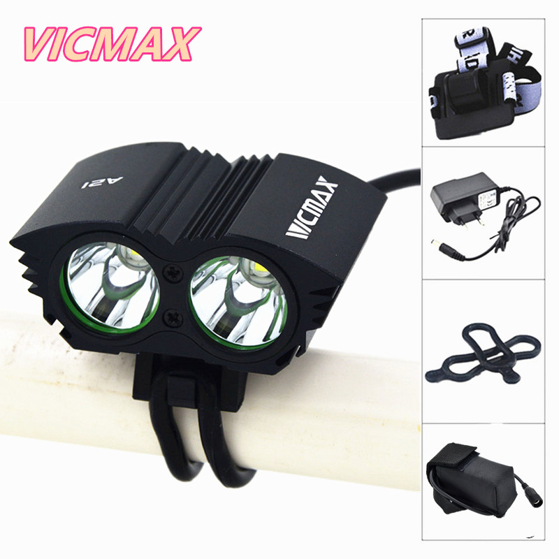 VICMAX A21 Bicycle light Bike Light XM-L T6 LED MTB Bike Bicycle Bike front Lights Lamp With Battery Pack + Charger cree xm l t6 bicycle light 6000lumens bike light 7modes torch zoomable led flashlight 18650 battery charger bicycle clip