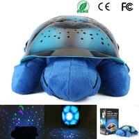 Czysta Nieszkodliwy Materiał Żółw Gwiazdy Musical Turtle Night Light Lampa Projektora Do Pokoju Dziecka dzieciaka Prezent Zabawki Sypialni