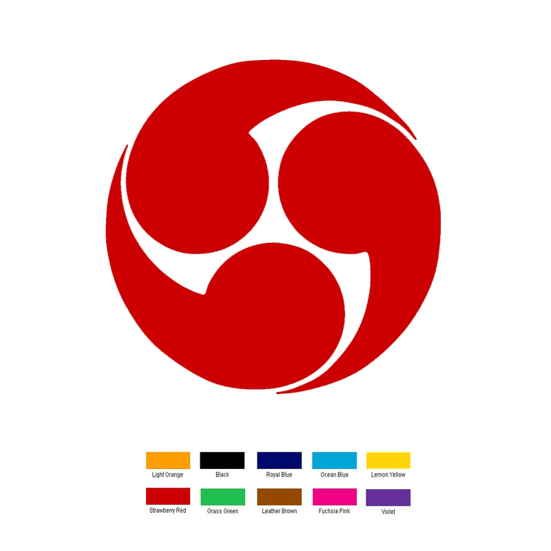 15cm x 15cm Japanese Shinto Tomoye Symbol Car Sticker For ...