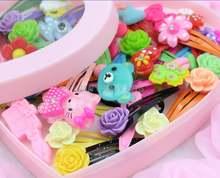 60 шт детские заколки для волос в виде радуги
