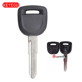 Keyecu Replacement Uncut Transponder Key Case Shell for Mazda 2 3 5 CX7 2003 2004 2005 2006 2007 2008 2009 2010 2011 2012 image