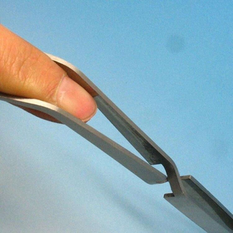Нержавеющаясталь Cross Action Пинцет лак для укладки Клип Маникюр Nail Art инструменты формирование Пинцет акриловые УФ гель кривой фиксированным Pinch