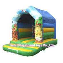Factory price colourful outdoor inflatable chute, inflatable bouncer Sponge