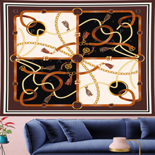 GN.PAPAYA Nordic Style Classical creative chain Tapestry Vintage Pattern Tapestries Retro flower Wall Hanging home  decor
