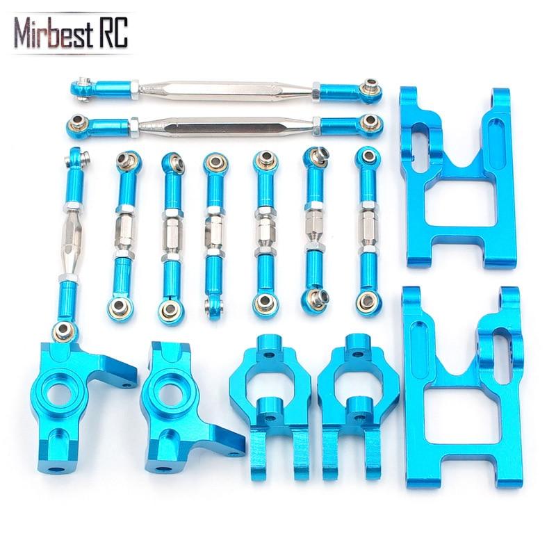 Mirbest RC DIY części dla Wltoys 12428 części 12423 FY 03 jjr/c Q39 Q40 RC metalowe części samochodowe aktualizacja pakietu akcesoria classis w Części i akcesoria od Zabawki i hobby na  Grupa 1