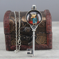 Vintage Key Pendant Detective Conan Necklace Anime Jewelry