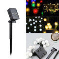 4.8M Solar Warm White Colorul 20 LED Garden Patio Decorative Ball Fuzz Fairy String Lights