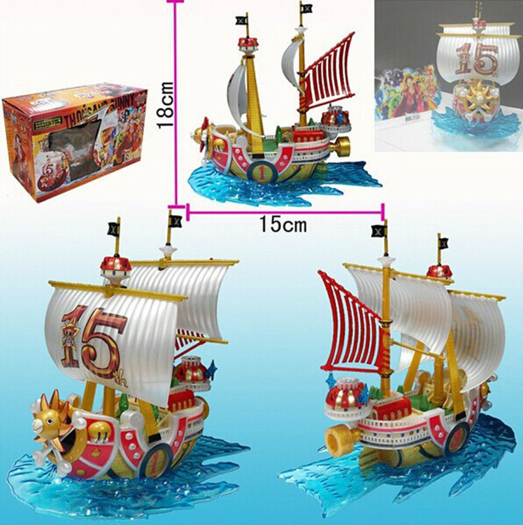 17cm ONE PIECE ONEPIECE Thousand Sunny 15th Ship Action Figure Model Toys Dolls PVC Anime Cartoon A230