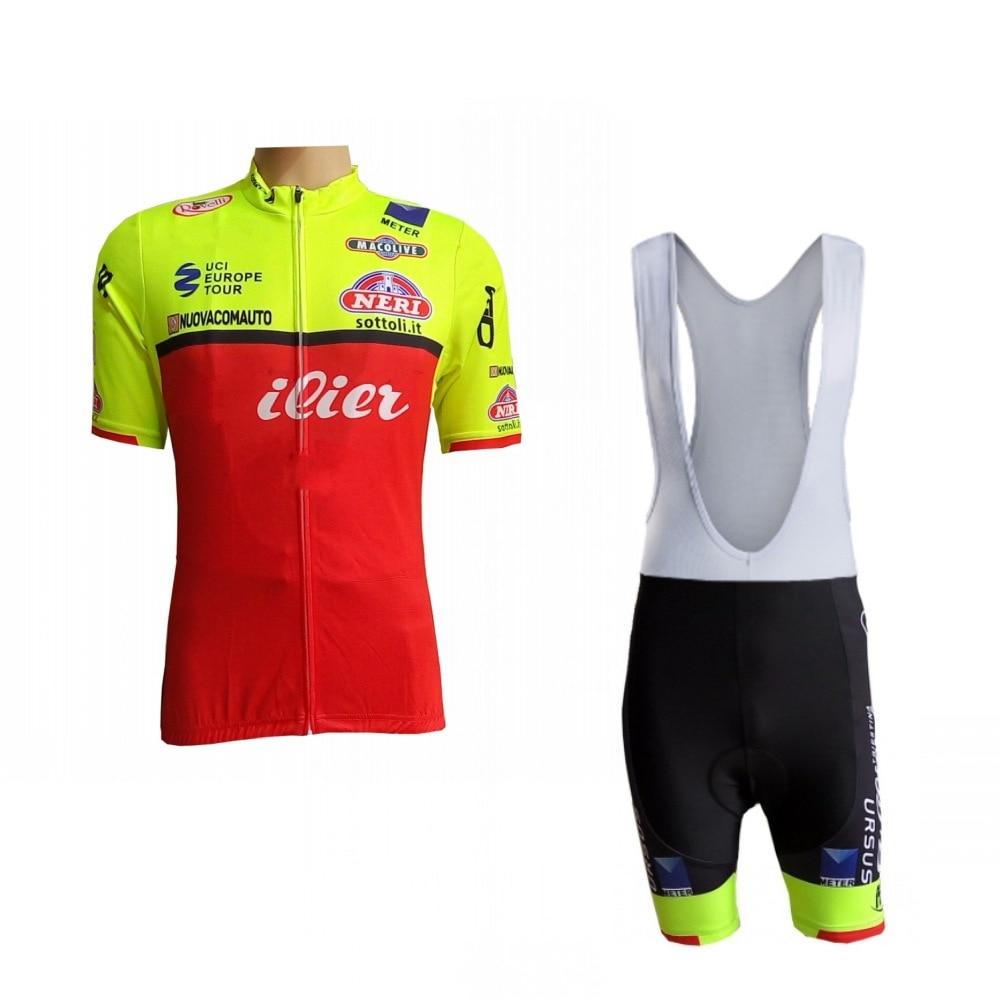 80b0d14e0 2018 new italy eroupe pro team fluor yellow cycling jersey kits mens summer  bike cloth MTB