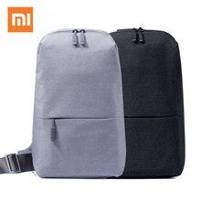 Original xiaomi mochila pacote de peito urbano para mulheres masculinas tamanho pequeno tipo ombro unissex com capacidade 4l saco escolar para tablet