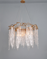 Phube Lighting Large Artistic Branches Chandeliers Coloured Glaze Chandelier Glass Leaves Chandelier Light Lighting