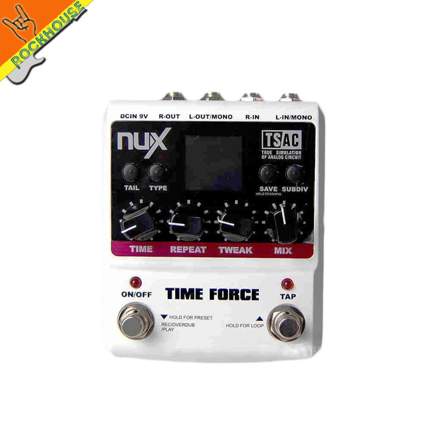 NUX Time Force Modeling Guitar Delay Effects pedal 11 Delay modes 9 storable presets 40's looper time Tail keeping free shipping хай хэт и контроллер для электронной ударной установки roland fd 9 hi hat controller pedal