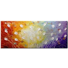 100% Handmade Oil Painting On Canvas knife Flower Abstract picture Wall Art Picture for Living Room Decor