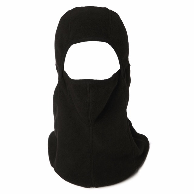 Unisex Black Polar Fleece Balaclava Hat Face Mask Motorcycle Cycling Ski Tactical Hood