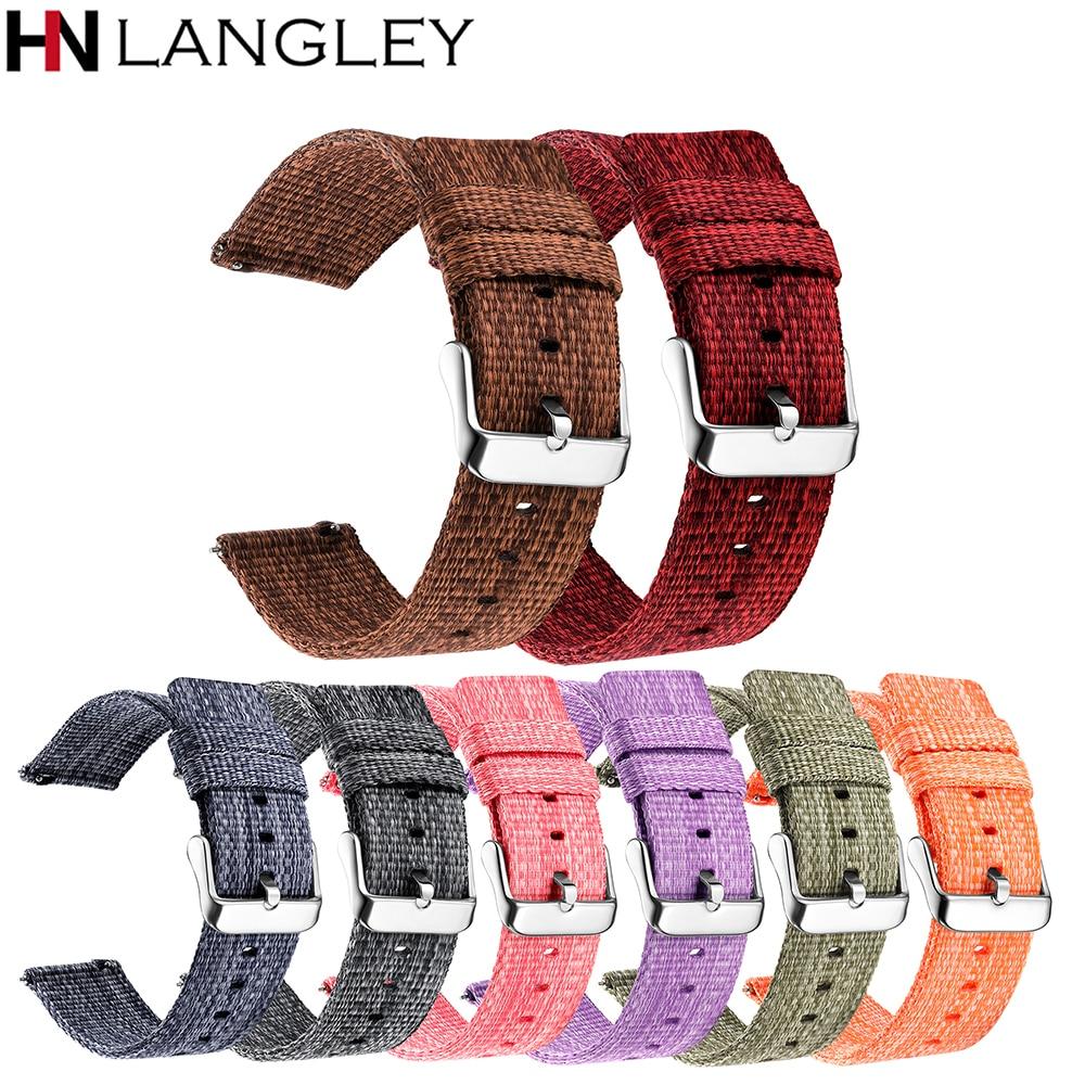 Быстросъемный ремешок для часов шириной 18/20/22/24 мм, обычно используются тонкие плетеные нейлоновые ремешки для часов
