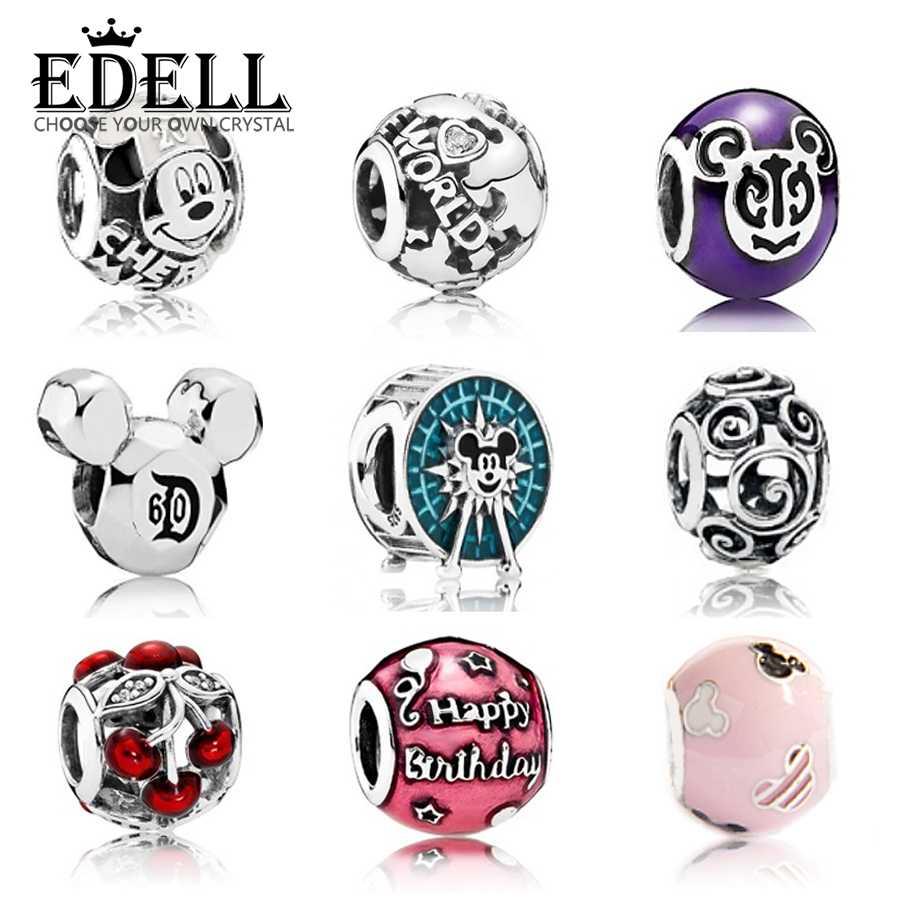 EDELL Authentic 925 Sterling Silver Charm lovely Beads collocation bracelet DIY bangle Pearl string Jewelry GiftEDELL Authentic 925 Sterling Silver Charm lovely Beads collocation bracelet DIY bangle Pearl string Jewelry Gift