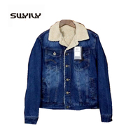 Men S Denim Jacket Cotton Padded Coat Lamb Wool Cashmere Warm Thick 2016 Winter New Male