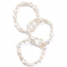 collares de moda 2019 femme anillos mujer natural real Cultured Freshwater Pearl Stretch Bracelets set pack bracelets for women(China)