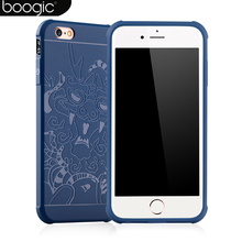 Luxury 3d Fashion Full Cover High quality silicone Matte soft Case For iPhone 6 6s Case dragon pattern For iPhone 7 Case+glass