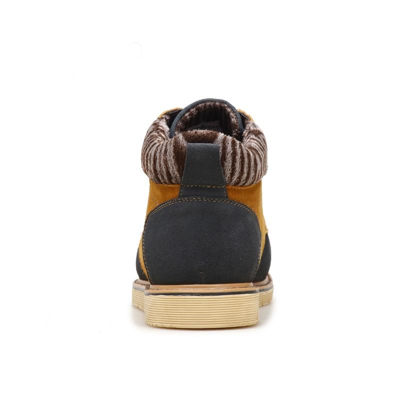 b4c3f7d77a1 Occasionnel Robe forme Chaussure Homme Bottines Plate Loisirs Hommes Mode  Luxe brown En Daim Peluche Botas Bottes De Hombre Nay D hiver Bois Mâle  6ybfY7g