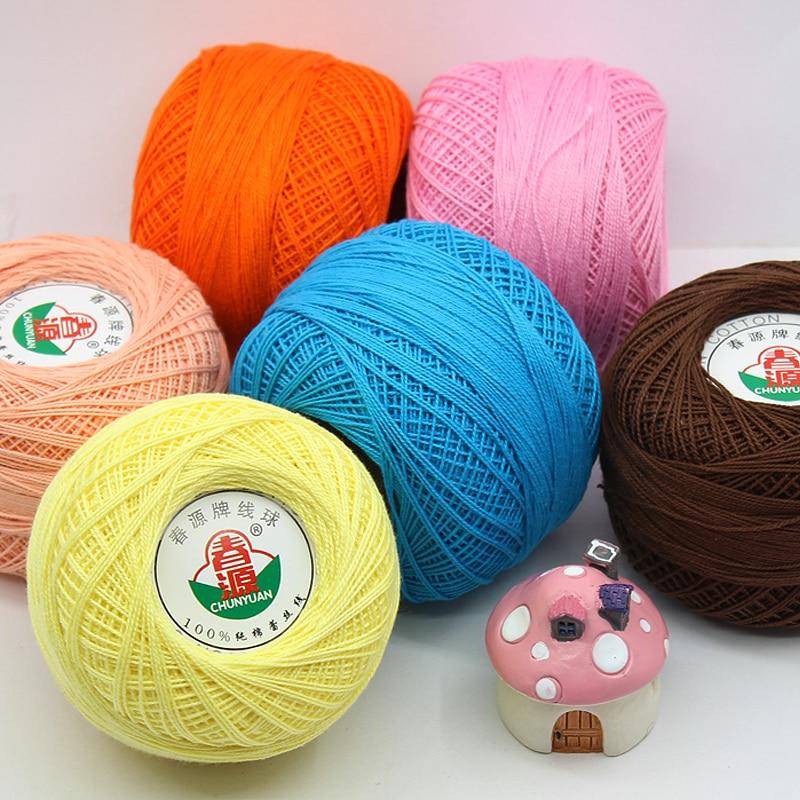 320 Grams 100% Cotton Lace Yarn Soft  Skin-friendly Feel Yarn For Crochet 0.5mm,  Free Shipping, 8 Balls