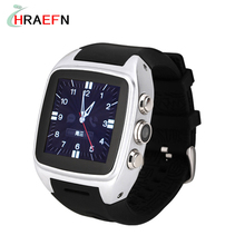 X01 Android Smart Watch phone 5.0MP Camera GPS Pedometer SIM TF Card APP download 3G WiFi GPS bluetooth Smartwatch 4G ROM 512RAM