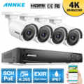 ANNKE 8CH 4K Ultra HD POE Network Video Security System 8MP H.265 NVR With 4PCS 8MP Weatherproof IP Camera Surveillance CCTV Kit