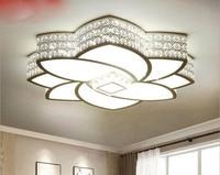 New Lotus LED Ceiling Light Modern Simple Flower Shaped Living Room Light Iron Crystal Room Light LED lighting fixture led lamp