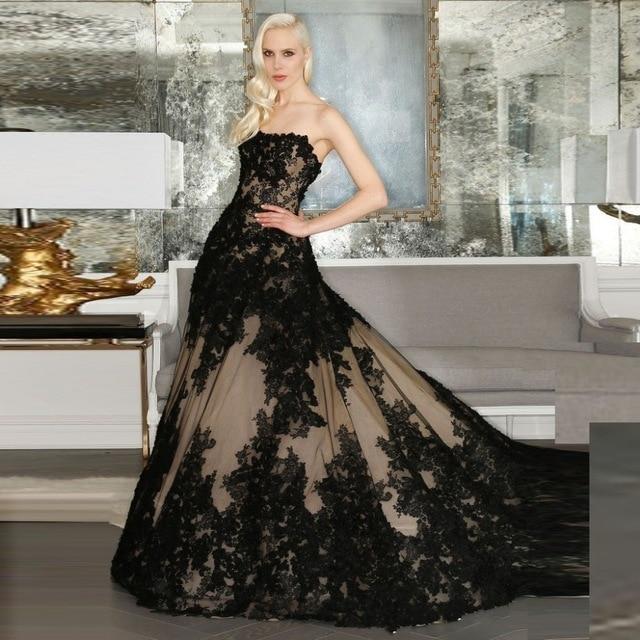 Online get cheap black gothic wedding dresses aliexpress for Black wedding dresses online