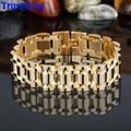 TrustyLan Brand Gold Plated Bracelet Men Aliexpress Luxury Best Friends Men Jewelry Bracelet Mens Link Bracelets Bangles Steel
