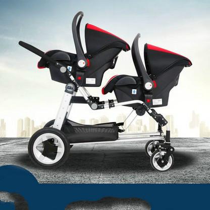 Gêmeo do bebê stroller alta paisagem segundo filho dupla dobrável reclináveis sentar em torno de 6 presente