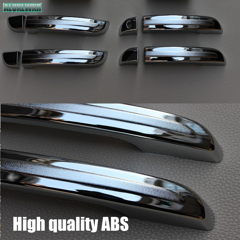 Auto 8pcs Chrome Outside Door Handle Cover Trim Molding Fit For Chery Tiggo 2 2017 2018 Car Styling car Accessories automobiles in Car Stickers from Automobiles Motorcycles