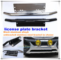 Hot selling license plate bracket,Aluminum Alloy(black)/steel (chrome) car license plate frames B001