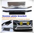 Venta caliente soporte de matrícula, aleación de aluminio ( negro ) / acero ( chrome ) placa del carnet de conducir marcos B001