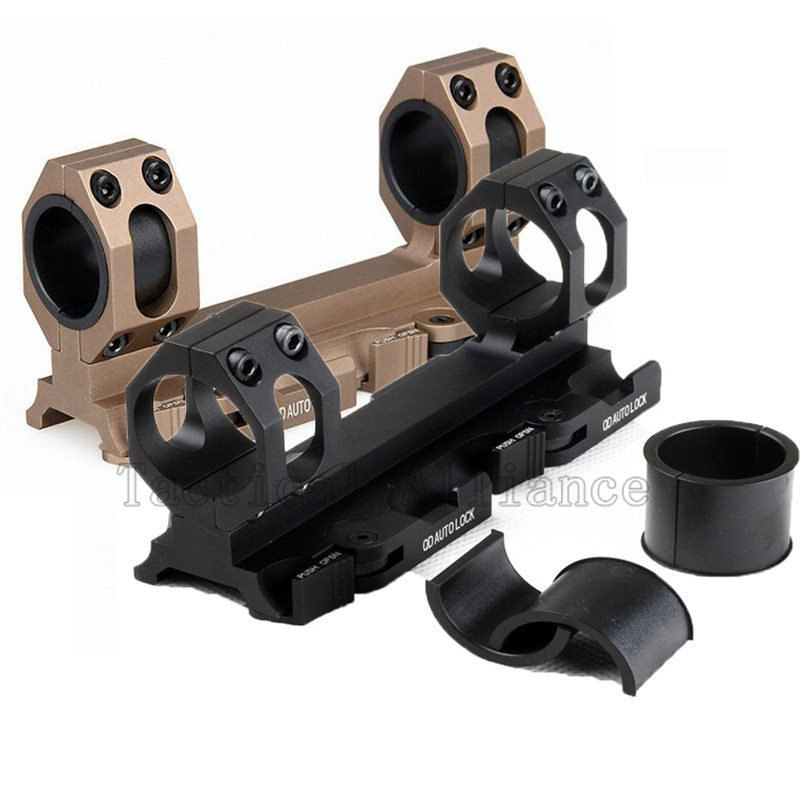 Hunting Scope Rock solid 1 25 4mm 30mm Weaver Picatinny Rings QR Cantilever QD Quick Detach