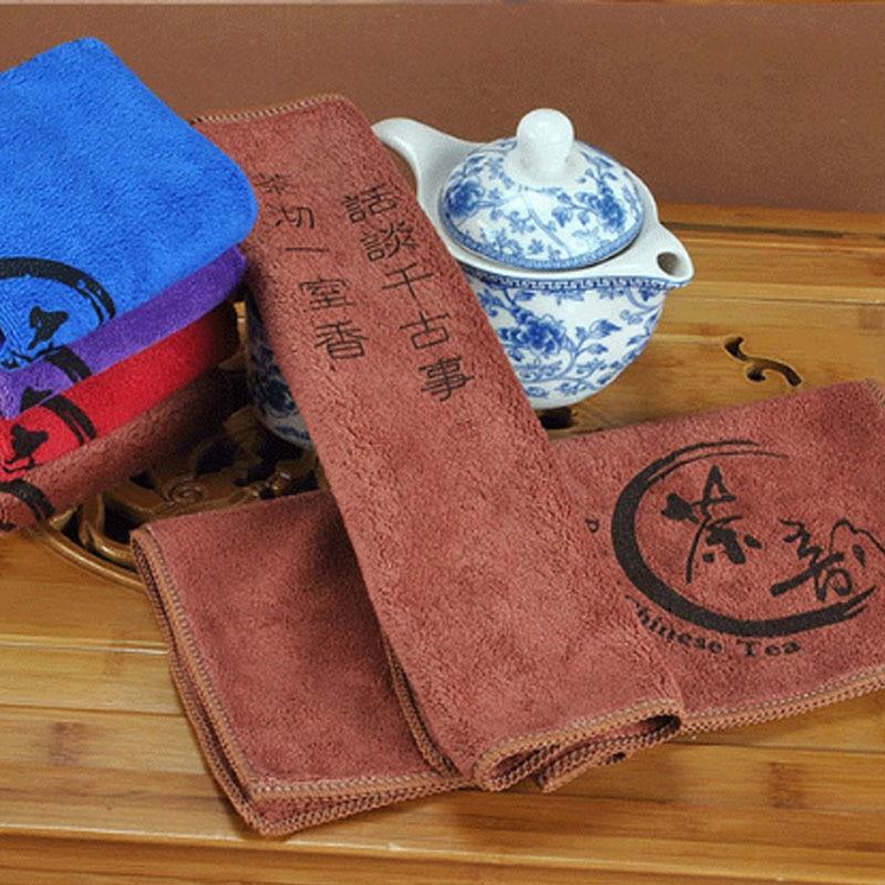 Tea Cloth Absorbent Strong  Tea Napkins Tea Set Accessories Nice Gift Tea Towels  1 PCS  Fiber 30*30cm