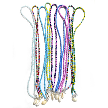 Boho Colorful Beads Shell Strand Necklace for Women Fashion Trendy Bohemian Summer Femme Cowrie Gift