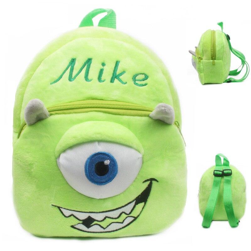Mike one eye schoolbag baby backpack children mochila bags kids plush backpack mini bags for Birthday