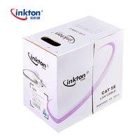 Inkton 305 м кабель Ethernet Cat5e UTP Oxyen Бесплатная витая пара для проектирования сетей Lan кабель 100% чистого Медь проводки