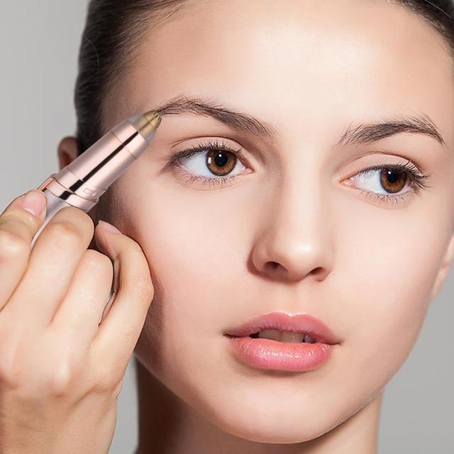 Electric Face Eyebrow Hair Remover Epilator Mini Eyebrow Shaver Razor Instant Painless Portable Epilator with eyebrow pencil 2