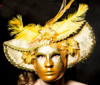021368 Newly discovered a sectoral princess mask of Venice carnival all saints fancy dress party