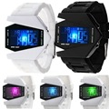 Light Digital Sports Quartz Silicone Fashion LED Wrist Watch Men's Boy's Watch