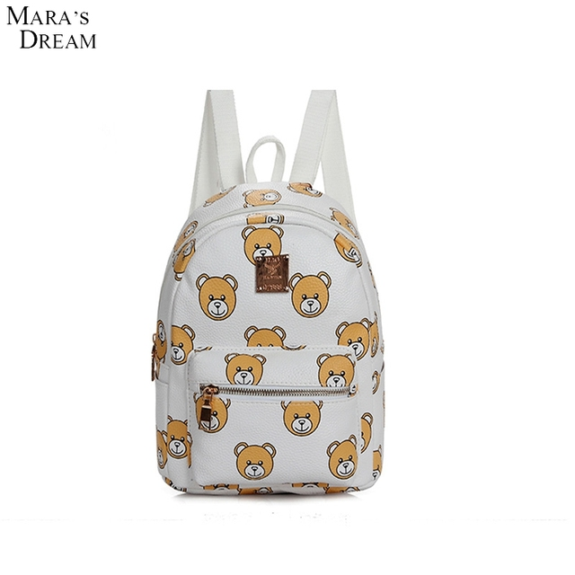 Mara's Dream 2016 Women Lovely Bear Backpack Cartoon Bag Cute Travel And Studentschool Bag Wear Breathable Jacquard Backpack