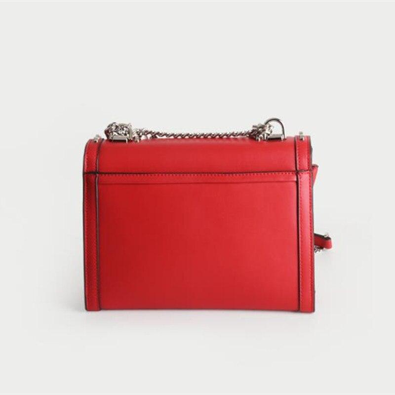 Épaule Sacs Canaux Designer Chaîne Véritable En Sac Cuir red Luxe Qualité Womenhandbags De Black Rivet Haute Mode Marque Messenger Célèbre af4OqngZz7