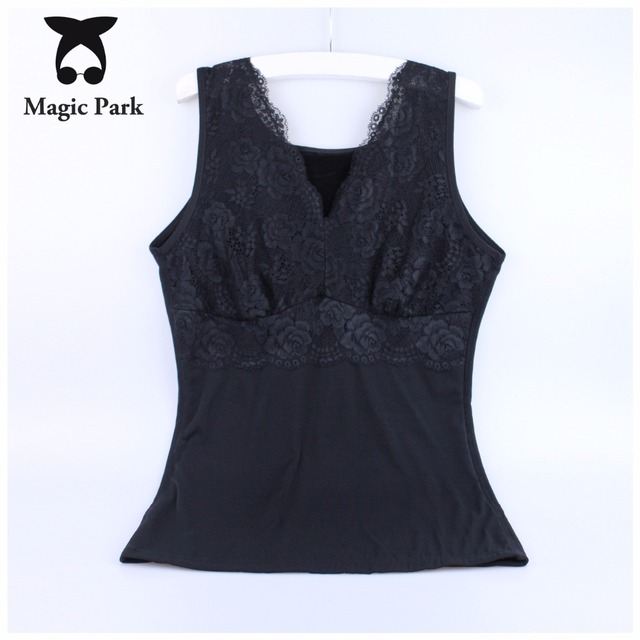 2016 New 4X-5XL Winter Thermal Warmer Lace Over Chest Plus size Magic Body Shapers Sexy V neck Corsets Shapewear Tight Tops