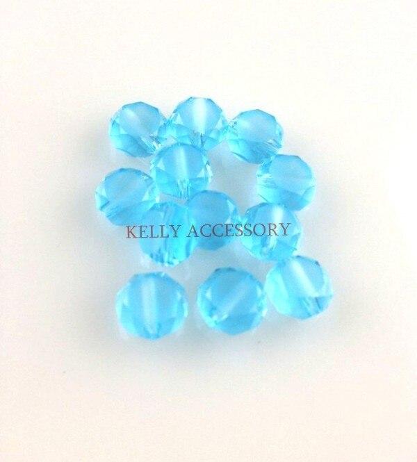 Лидер продаж 700 шт./лот 8 мм Голубое озеро плоские круглые хрустальные Стекло Бусины Lampwork Strand ремесло браслет DIY Бусины для ювелирных изделий делая