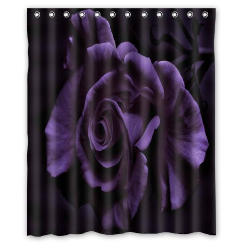 "Purple rose bloom custom Shower Curtain Bathroom decor fashion design Free Shipping 36x72"" 48x72"" 60x72"" 66x72"""